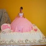 Barbie with embossed fondant skirt