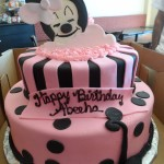 Sleeping Minnie - 2D fondant cutout