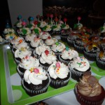 Candies themed cupcakes
