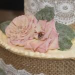 Burlap Ribbon/Candied Roses