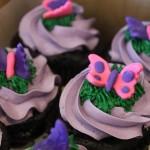 Butterflies - hot pink and purple