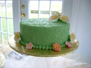 Embossed Fondant with Sugar Florals