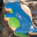 Dinosaur Poured Sugar Cookie