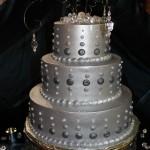 Silver Dot Wedding Cake