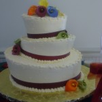 Topsy Turvey - ribbon band and sugar flowers