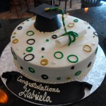 Graduation Cake - Retro Circles