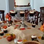 Fall themed dessert display