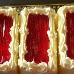 Vanilla Torte - Strawberry Puree