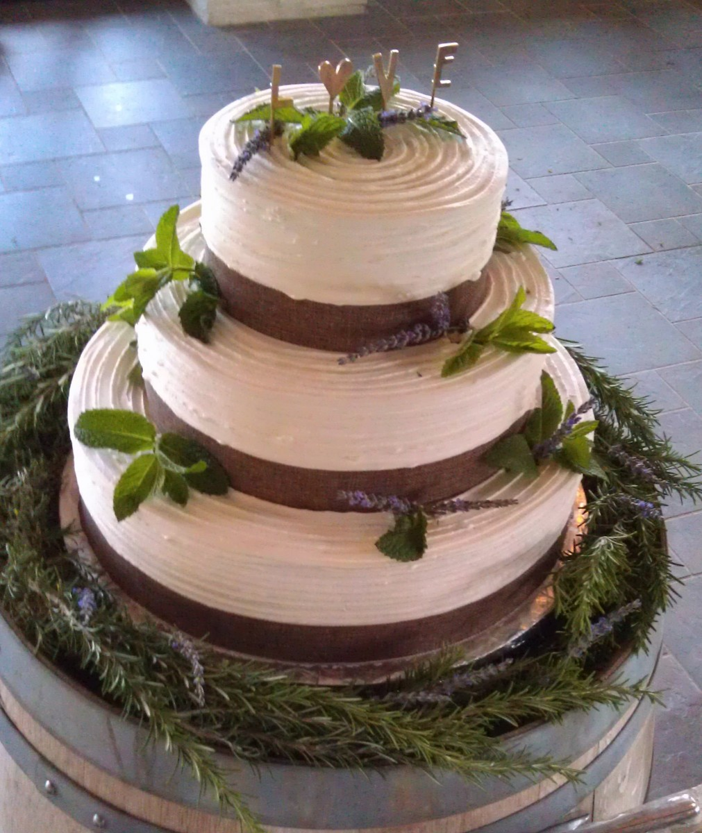 Adorned with fresh rosemary