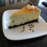 Slice of Pistachio Cheesecake