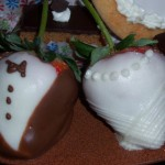 Bride and Groom Chocolate Strawberries